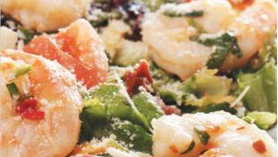 Karides ve Taze Sebze Salatası