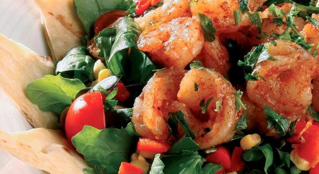 Sıcak Karides Salatası